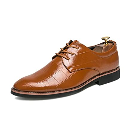 87006aea652da Amazon.com: Men's Breathable/Pointed Leather Shoes Spring/Fall Mens ...