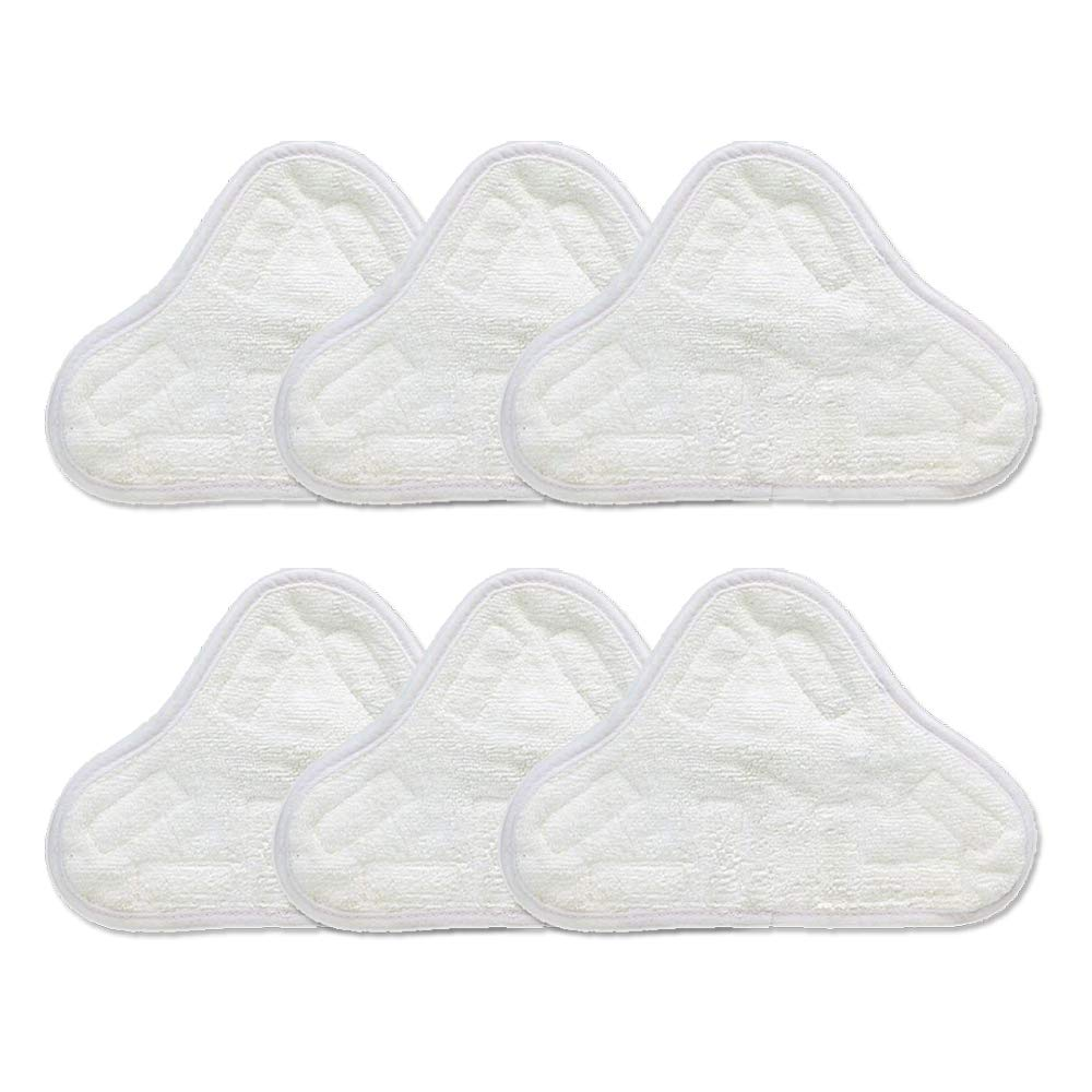 EcoMaid(TM) Accessories For Set Of 6 Microfibre Steam Mop Floor Washable Replacement Pads For H2O H20 X5 AX-AY-ABHI-117961