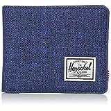 Herschel Supply Co. Men's Hank RFID Blocking Wallet, Eclipse Crosshatch/Black Synthetic Leather