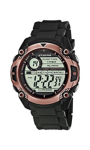 Calypso watches K5577/7 - Reloj de pulsera hombre, plástico, color negro: Amazon.es: Relojes