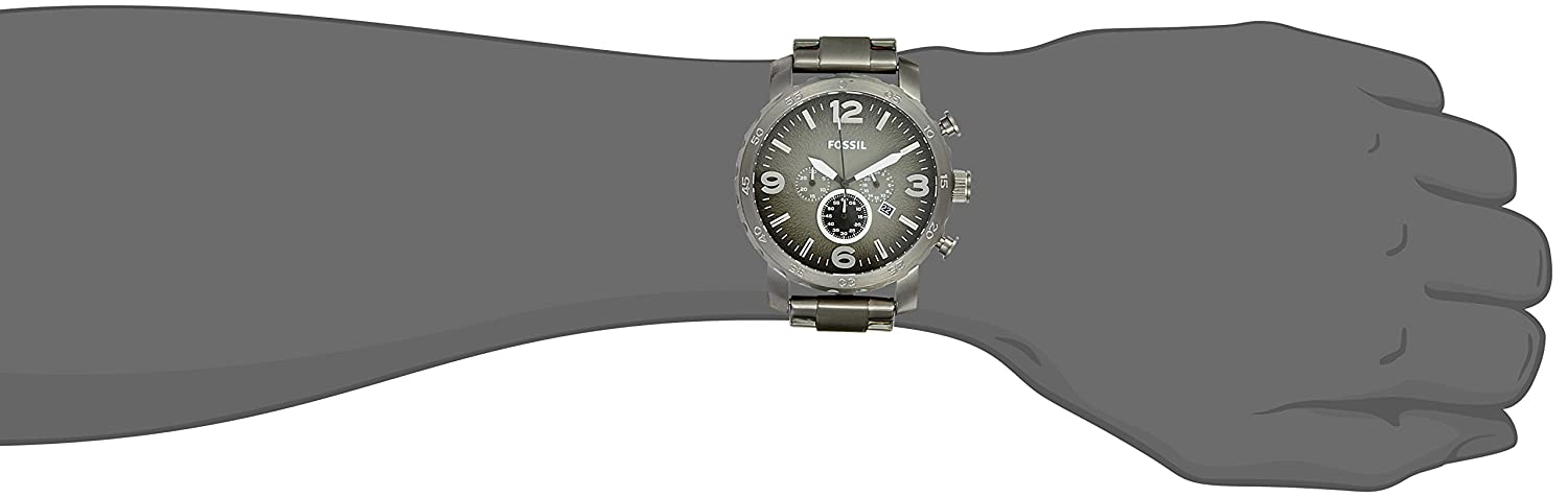 buy fossil nate chronograph grey dial men\u0027s watch jr1437 online at