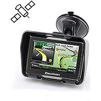 Excelvan 8GB Fino a 32 GB Navigatore GPS Bici Moto Impermeabile IPX7 4.3 Inch Touch Schermo Bluetooth vince CE6.0(Nero)