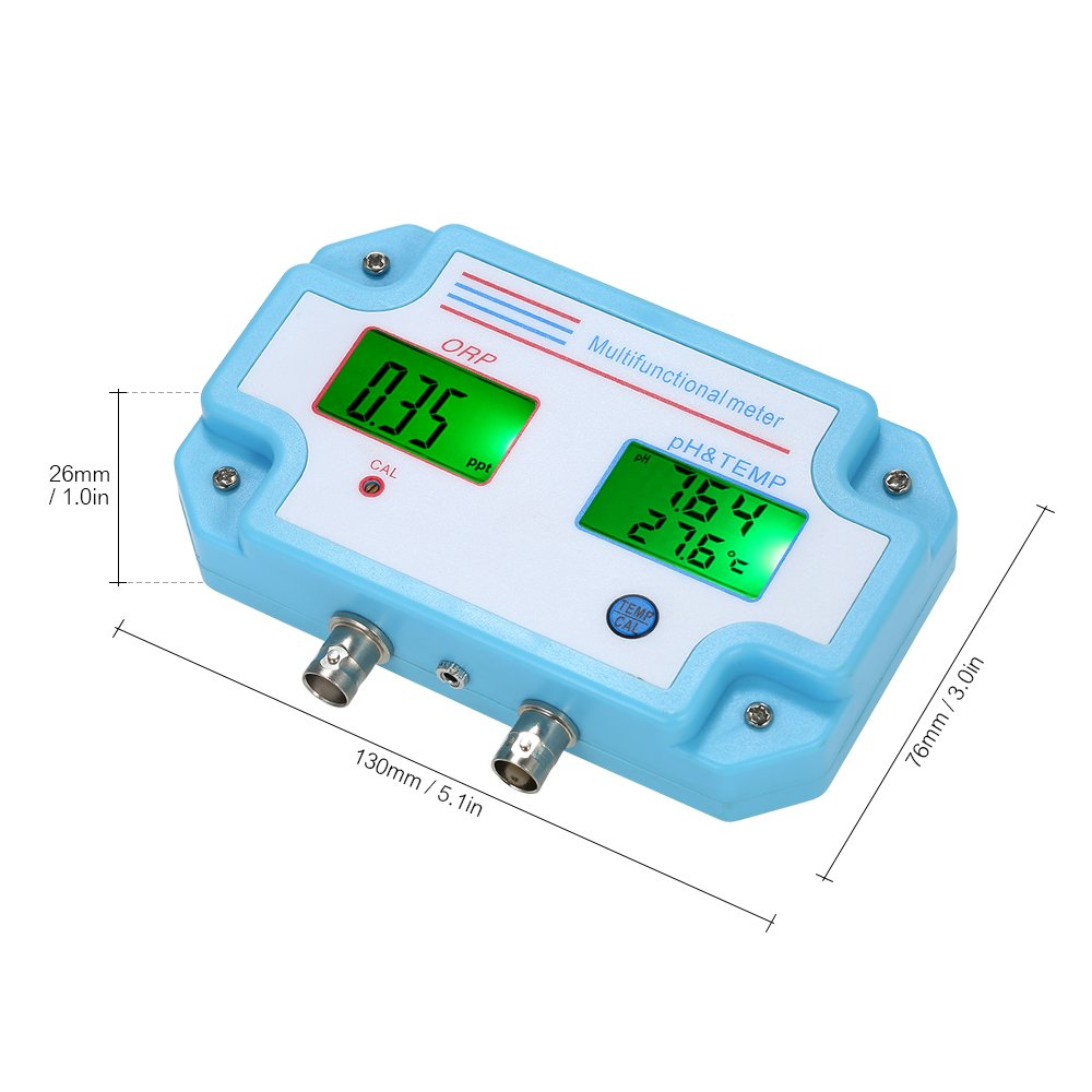 Walmeck Professional 3 In 1 Ph Orp Temp Meter Water Quality Tester Constant Tds19 Detector Multi Parameter Digital Lcd Tri Function Monitor