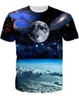 LeapparelTシャツ メンズ 半袖シャツ 宇宙柄 3Dプリント 個性的 ストリート系 スーポツ トレーニング ジョギング ゆったり 快適 カジュアル 男女兼用 大きなサイズ有り 全23柄展開