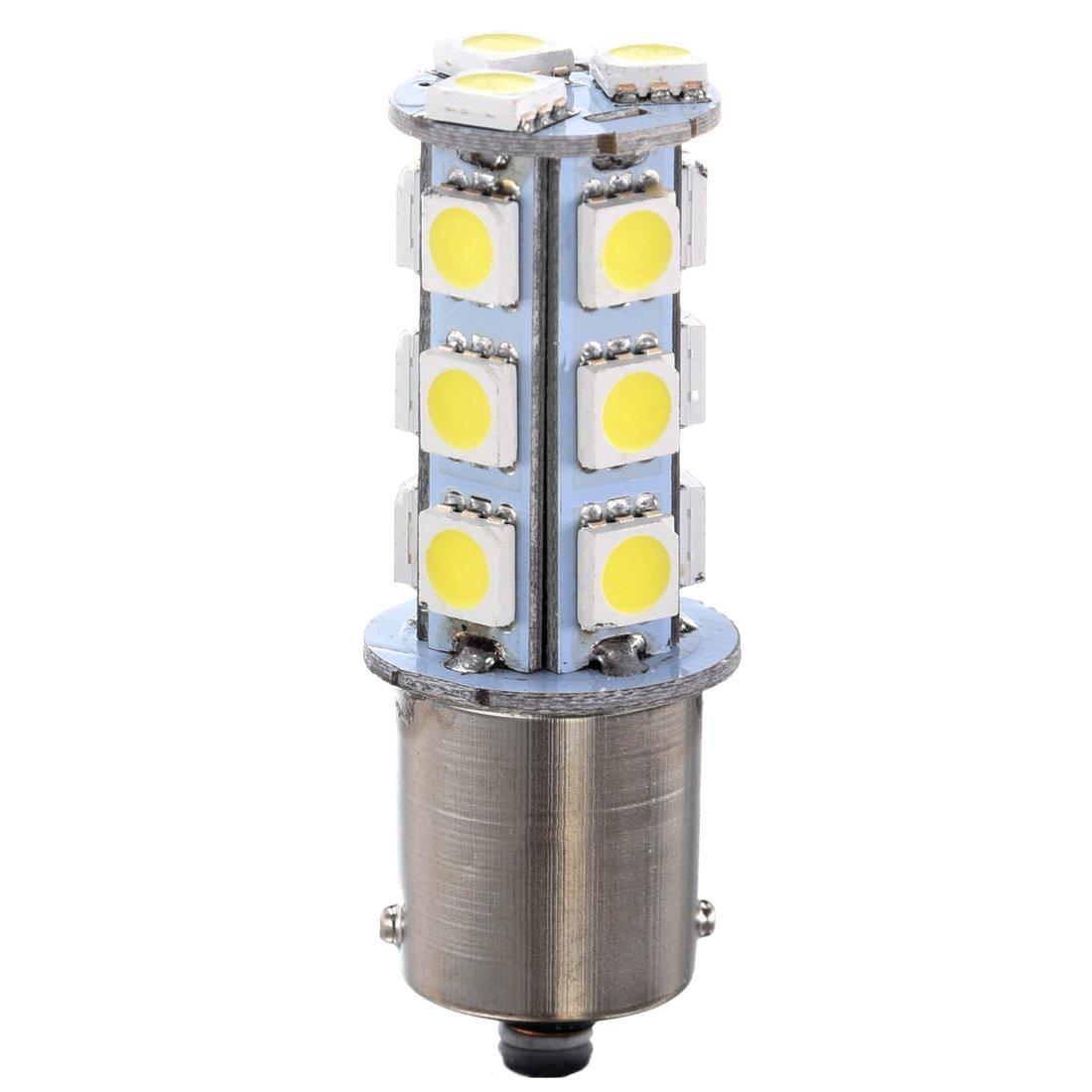 SODIAL(R) White 1156 P21W BA15S R10W 18 LED 5050 SMD Tail Brake Signal Side Light Bulb 12V