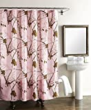 Realtree Pink Camo Shower Curtain Realtree Camouflaged Shower Curtain