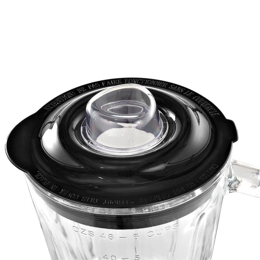 WMF Stelio Batidora de Vaso, 1,5 l, 600 W, 1.5 litros, Vidrio, 5 Velocidades, Cromargan Mate, Negro: Amazon.es: Hogar
