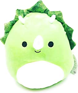 Squishmallow Kellytoy Tristan The Triceratops Dinosaur Super Soft Plush Toy Pillow Pet Pal Buddy (8 Inches)