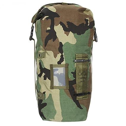 Amazon.com   US Army Woodland Camo NBC Chem Chemical Suit Bag Back ... a0bbefec93827