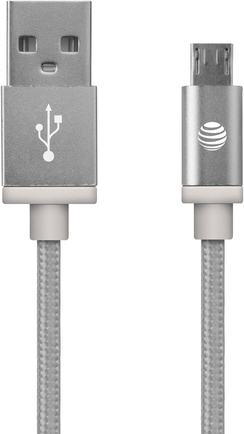 MC05-BLK AT/&T Braided USB to Micro USB Charge /& Sync Cable 5ft Black