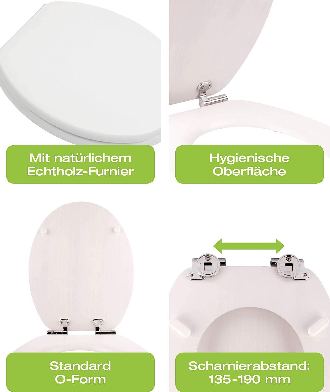 40308 5 Venezia Abattant WC avec frein de chute et syst/ème de fixation rapide Fast Fix
