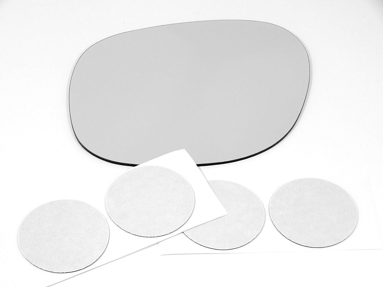Fits 99-03 Toyota Solara Right Passenger Convex Mirror Glass Lens  w// Adhesive