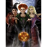 "5D DIY Halloween Diamond Painting Kits for Adults""Three Pumpkin Witches"" Handmade Cross Stitch Embroidery Round…"