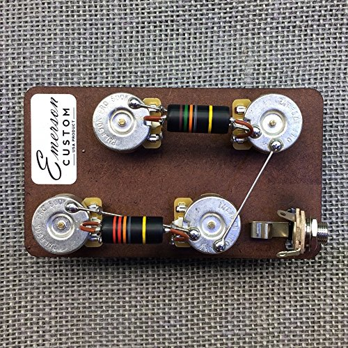 Gibson Guitar Les Custom Paul (Emerson Custom Prewired Kit for Gibson Les Paul Guitars - Long Shaft)