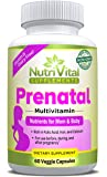 Prenatal Vitamins by NutriVital Supplements, With Essential Vitamins, Minerals, Folic Acid, and Prenatal Herbs For Mother and Baby, Made in the USA, FDA Registered Facility, Non GMO, 60 Capsules