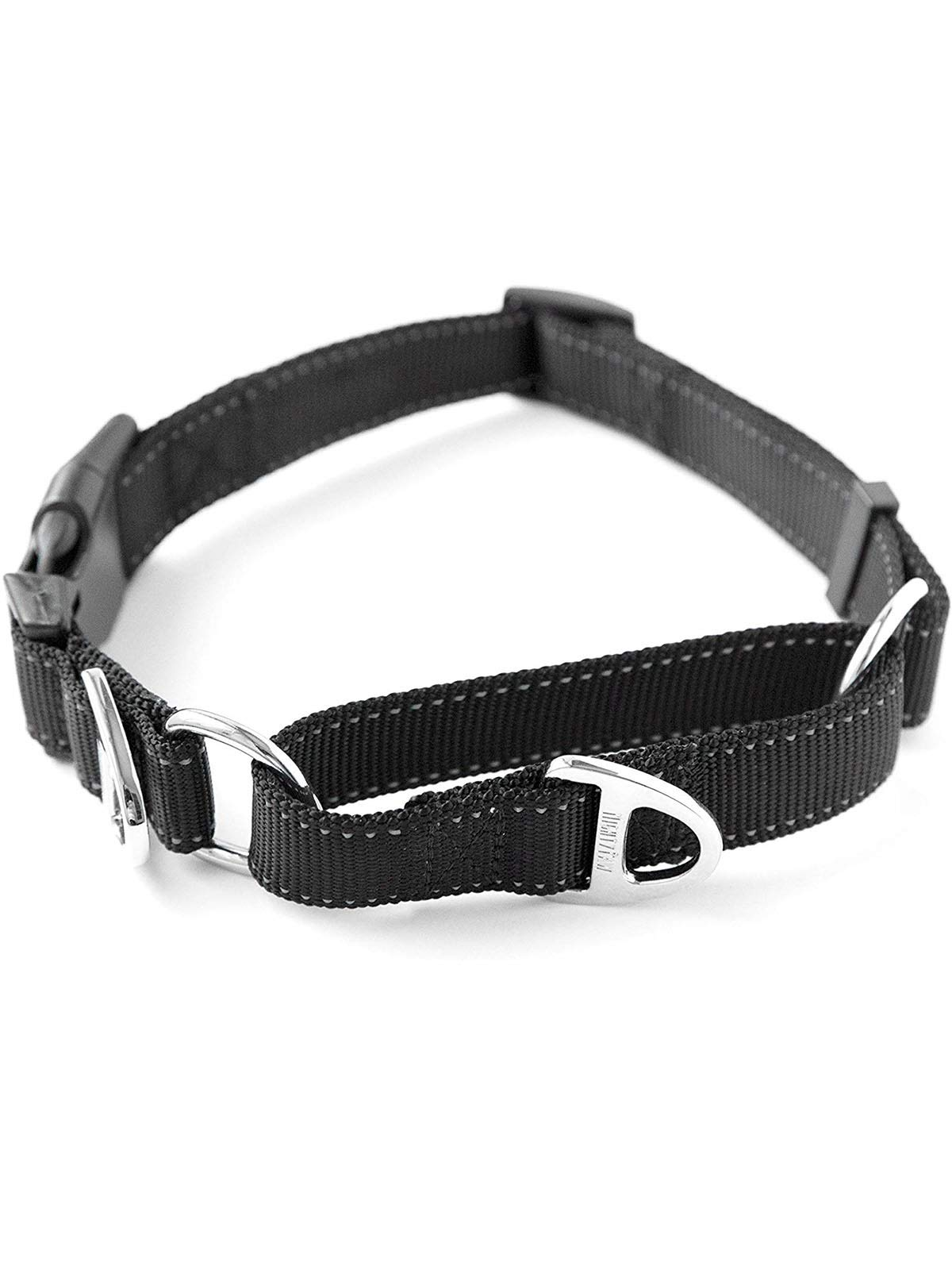 Mighty Paw Martingale Nylon Training Collar. Our Trainer Approved Limited Slip Collar. Modified Cinch Collar for Controlled Force for Optimal Training. Reflective Stitching to Keep Your Dog Safe! by Mighty Paw