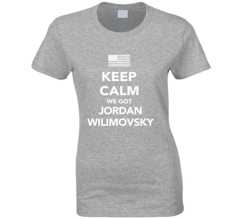Jordan Wilimovsky Keep Calm 2016 Olympics Basketball Ladies T Shirt XL Sport Grey by Mad Bro Tees