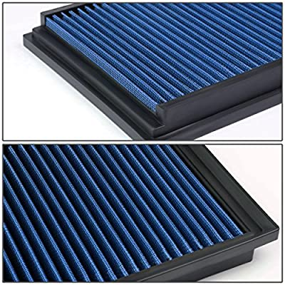 Replacement for Mazda 3 / Mazda 5 2.0L / 2.3L / 2.5L Reusable & Washable Replacement High Flow Drop-in Air Filter (Blue): Automotive