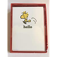 """Graphique Happy Woodstock Boxed Notecards, 16 Peanuts """"hello"""" Message Cards, with Matching Envelopesand Storage Box, 3…"""