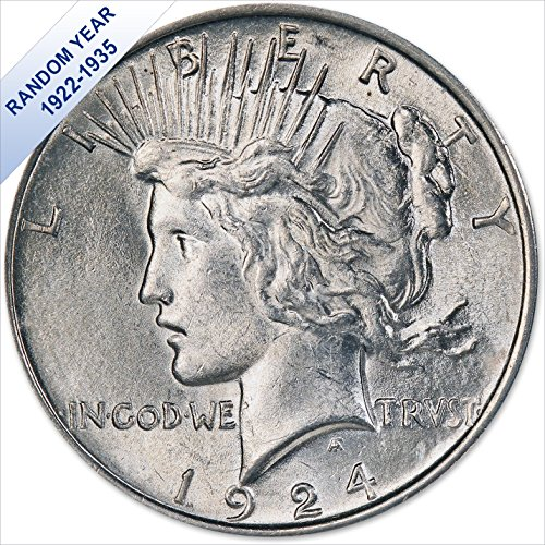 (1922-1935) Peace Silver Dollar (AU) $1 About Uncirculated - Peace Dollars Commemorative Coins