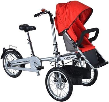 JHSHENGSHI Cochecito de bebé Doble 2-en-1,Bicicletas de ...