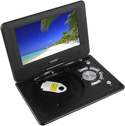Reproductor de DVD portátil de 9,8 Pulgadas con Pantalla giratoria ...