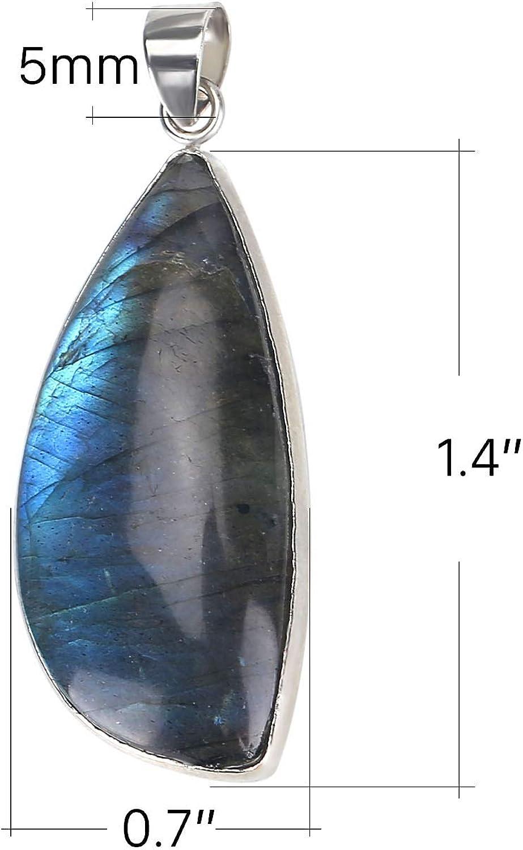 Beautiful Multi Labradorite Cabochon AAA Quality Stone Silver Pendant Jewelry Labradorite 37X26X8 mm 65 Crt Natural Labradorite
