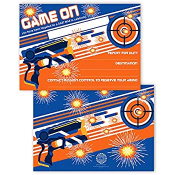 Amazon Dart Tag Themed Party Supplies Large 5x7in Size Set Of