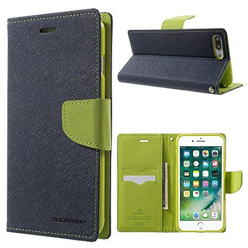MERCURY GOOSPERY Stand Leather Wallet Tasche Hüllen Schutzhülle - Case für iPhone 7 Plus - Dark Blue