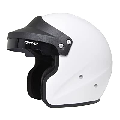 Conquer Snell SA2015 Approved Open Face Racing Helmet: Automotive [5Bkhe0101460]