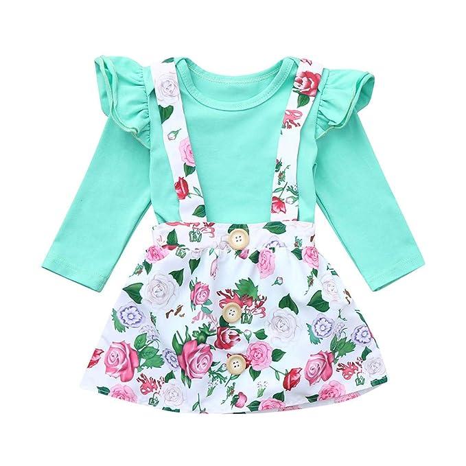 Amazon.com: 2 faldas con correa floral, G-Real para bebés ...