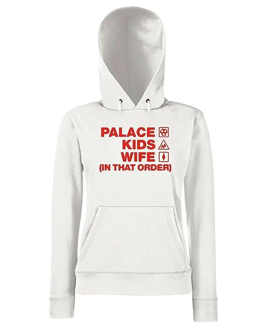 T-Shirtshock - Sudadera hoodie para las mujeras WC1058 palace-kids-wife-order-tshirt design, Talla L: Amazon.es: Ropa y accesorios