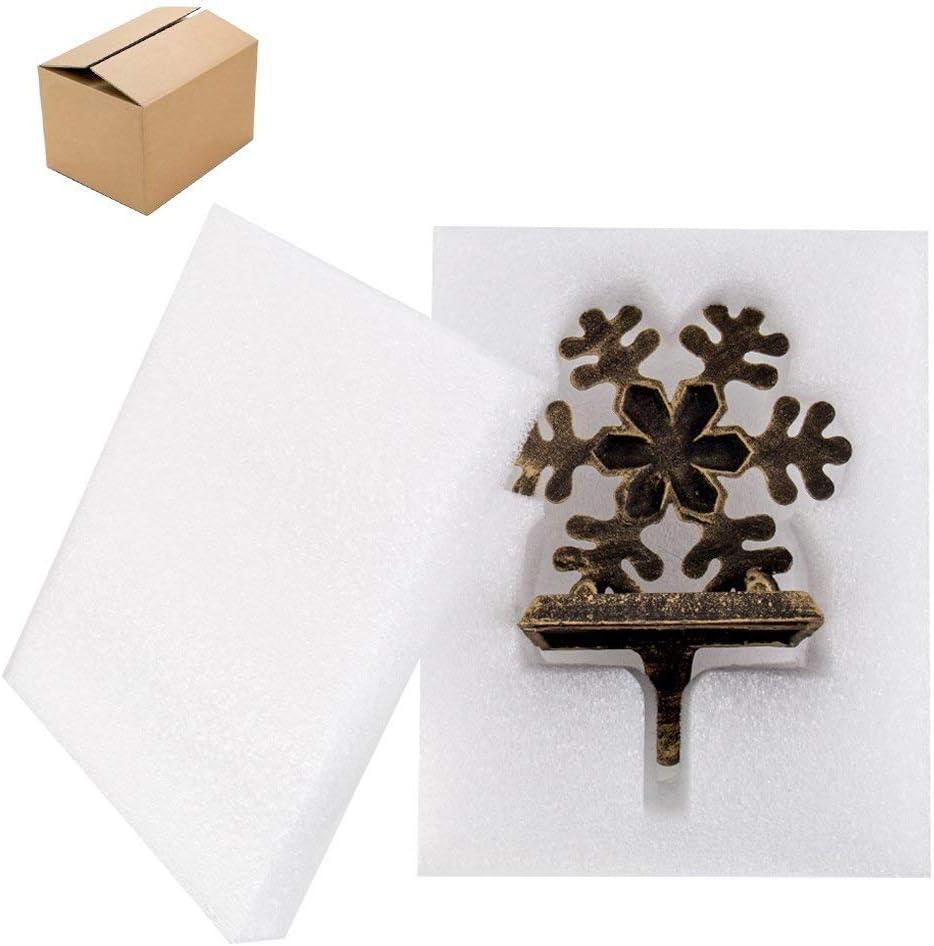 Renewed Snowflake ODOMY Christmas Stocking Holders for Fireplace Mantle Stocking Hook Hangers Metal Snowman Reindeer Santa Snowflake Holder Indoor Vintage Christmas Decorations