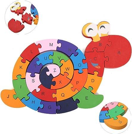 Crazy M Numero Puzzle Lumaca di Legno Puzzle di Legno