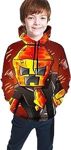 Sadie Mae Pre_Ston_Playz Game 3D Printed Boys Hoodie Long Sleeves Unisex Pullover Sweatshirt Casual with Pocket Funny Hoodies Jacket with hat for Boy Girl Kids