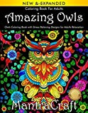 Coloring Book for Adults: Amazing Owls: Owls Coloring Book with Stress Relieving Designs for Adults Relaxation: (MantraCraft Coloring Books)