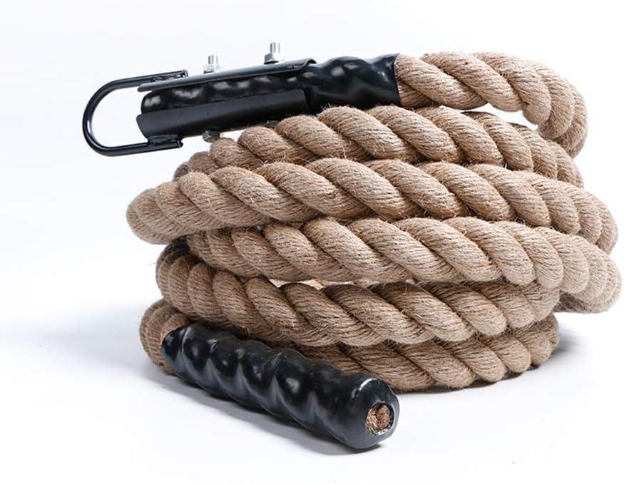 体力トレーニングクライミングロープ腕力トレーニング爆発力トレーニングロープクライミングロープの綱引きロープフィットネス波ロープ運動十字筋力トレーニングホームフィットネス男性と女性のトレーニング機器  6m 38mm/236*1.5 in