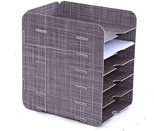 MDBYMX Bandeja de documentos Bandeja de archivos de madera simple Marco de caja de almacenamiento de archivos simple de escritorio Suministros de oficina Caja de almacenamiento de escritorio Estante d: Amazon.es: Hogar