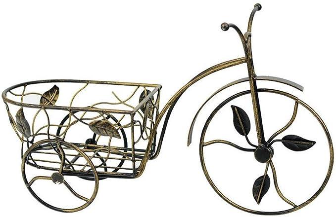Bicicleta Maceta con dorados Patina forjado Soporte (36 x 11 x ...