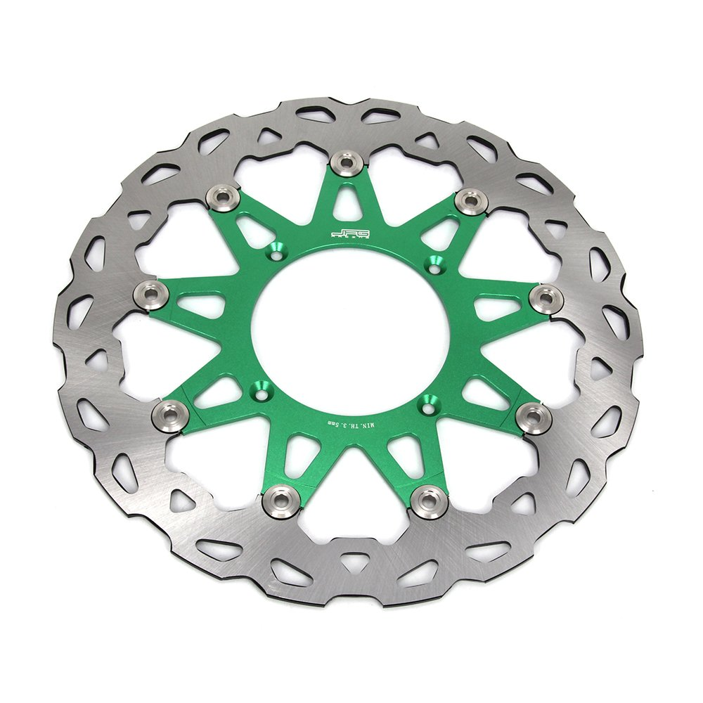JFG RACING 250MM Stainless Steel Front MX Wavy Brake Disc Rotor For Kawasaki KX125 KX125250 06-08 KX250F 06-14 KX450F 06-14 KLX450R 08-15 4350339584