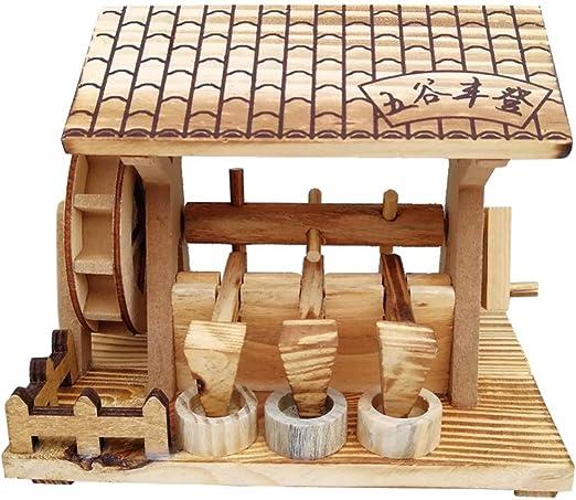 EXCEART Modelo de Rueda Hidráulica de Madera Antigua Rueda de Agua Artesanal Modelo de Herramienta de Granja Decorativa para Decoración de Escritorio de Mesa de Oficina en Casa: Amazon.es: Juguetes y juegos