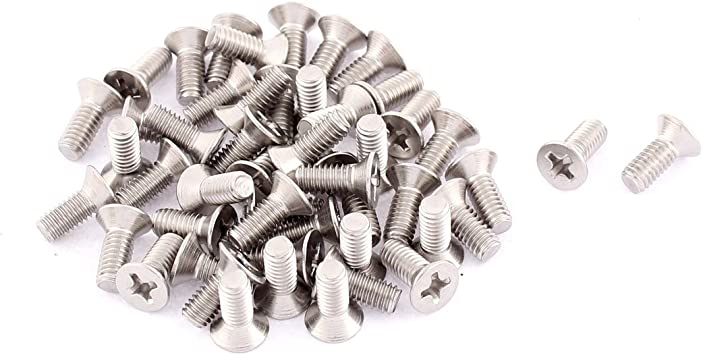 Uxcell a15101300ux0201 M4 x 10mm Phillips Flat Head Countersunk Bolts Machine Screws BISS Dragonmarts Pack of 50