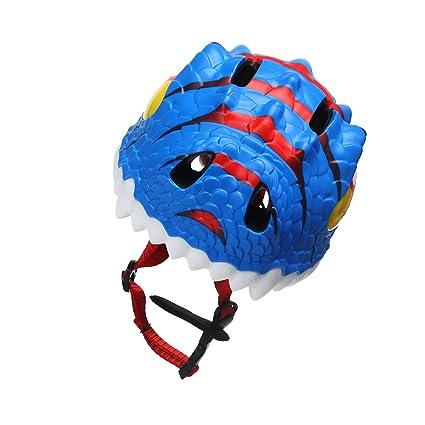 Amazon.com : VORCOOL Kids Bike Helmet,Cartoon Dinosaur Childrens Sports Safety 3D Helmet Cycling Scooter Skating Bike Boys Girls(Blue) : Sports & Outdoors