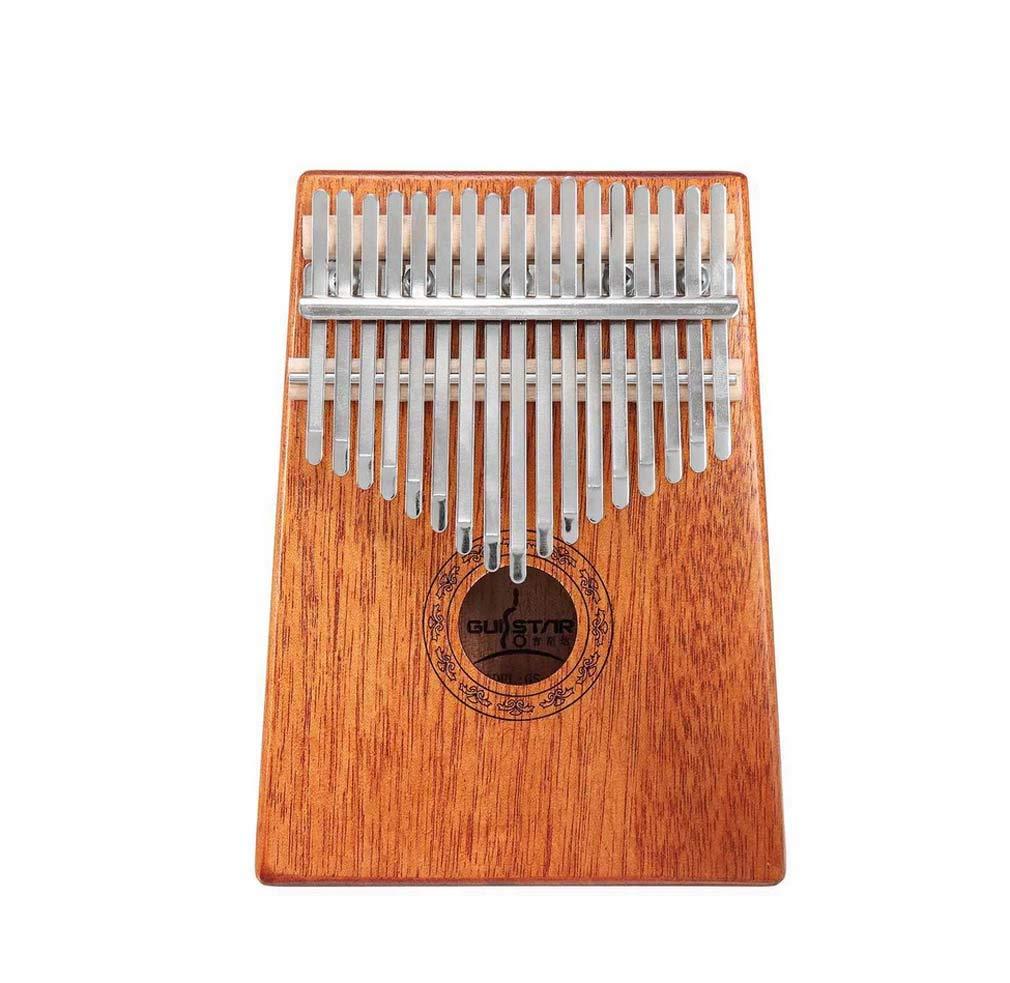 DUQI22 Thumb Piano, 17-Key Kalimba Solid Finger Piano Mahogany Professional Musical Instrument with Carrying case and Thumb Protection Mbira