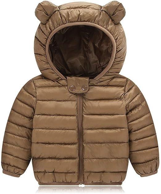 Kids Baby Winter Warm Coat,Kaicran Long Sleeve Cotton Lined Cartoon Hooded Puffer Jacket Coat
