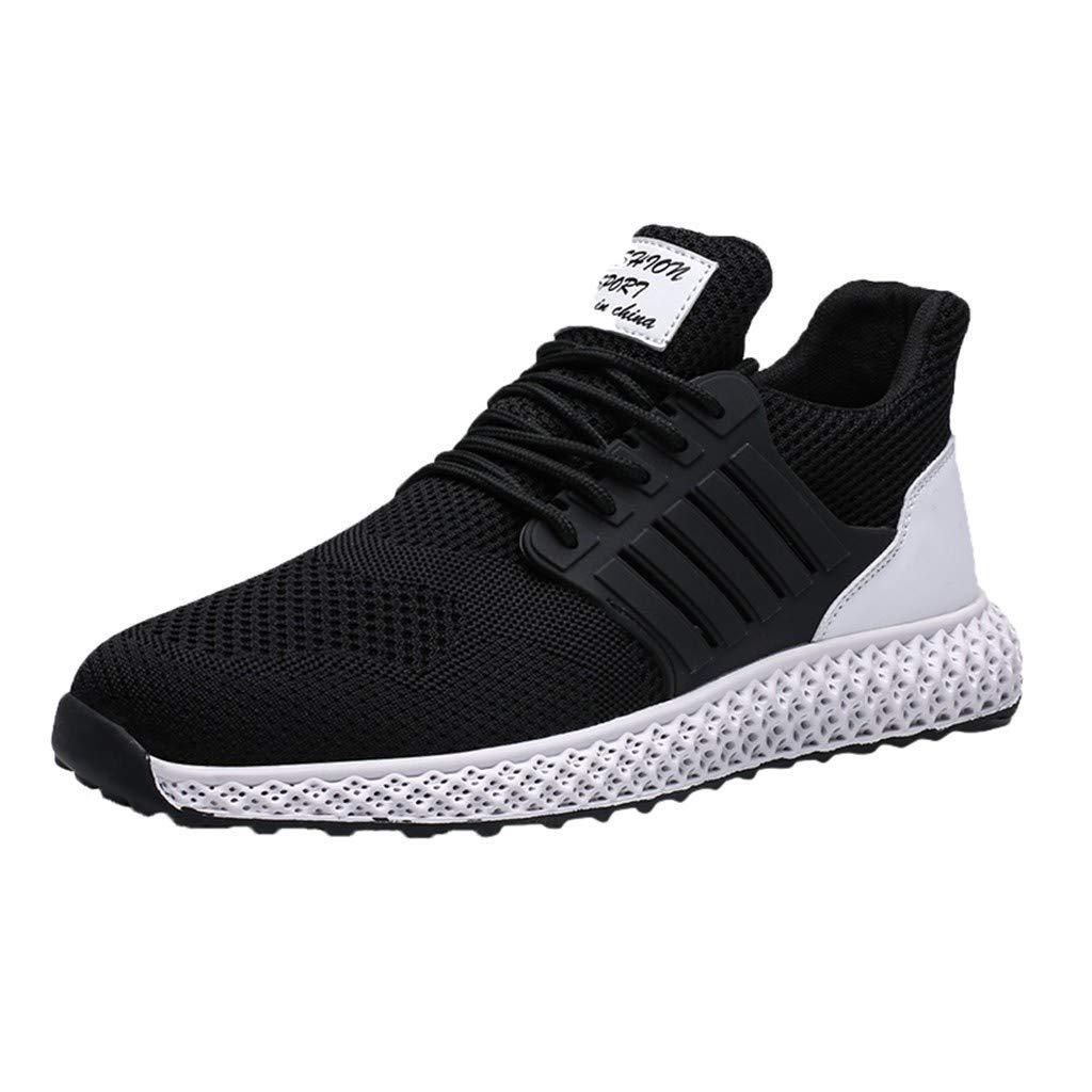 refulgence Men's Athletic Training Sneaker Hollow Mesh Breathable Sneakers Non-Slip Sneakers(Black,US:9) by refulgence