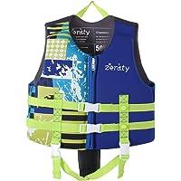 Zeraty Kids Chaleco Ayuda de natación para niños pequeños con Correa de Seguridad Ajustable Edad 1-9 años / 22-50 lbs