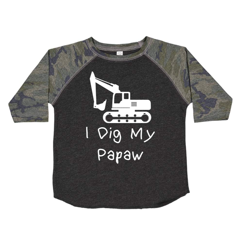Toddler//Kids Raglan T-Shirt Mashed Clothing I Dig My Papaw