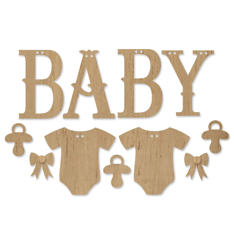 ADORNit DIY Wood Swag Banner Hanger - Baby
