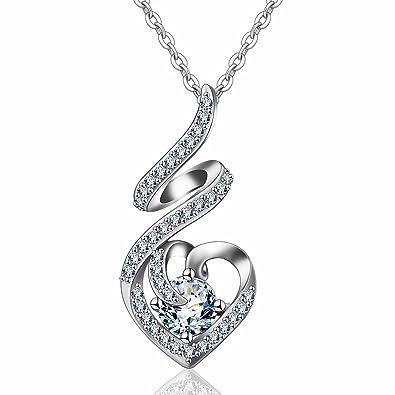 EUDORA 925 Sterling Silver Rhodium Irish Trinity Celtic Knot Vintage Pendant Necklaces, Rolo Chain 18